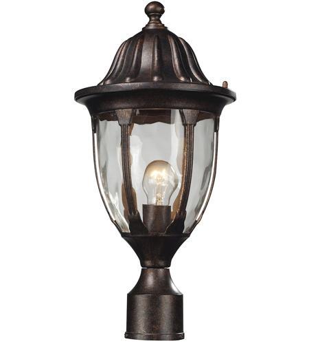 ELK 45005/1 Glendale 1 Light 17 Inch Regal Bronze Outdoor Post Light Photo