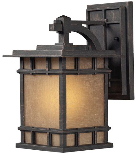 ELK Lighting Newlton 1 Light Outdoor Wall Sconce in Weathered Charcoal 45010/1 photo