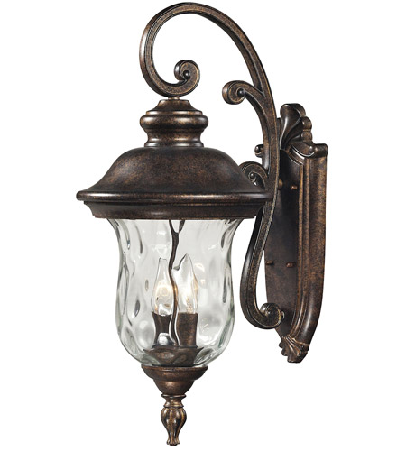ELK 45022/3 Lafayette 3 Light 27 inch Regal Bronze Outdoor Wall Sconce photo
