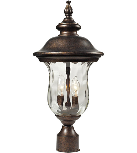 ELK Lighting Lafayette 2 Light Outdoor Post Light in Regal Bronze 45023/2 photo
