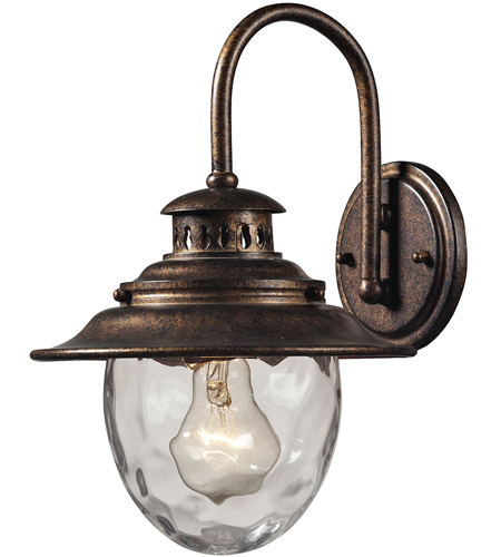ELK Lighting Searsport 1 Light Outdoor Wall Sconce in Regal Bronze 45030/1 photo