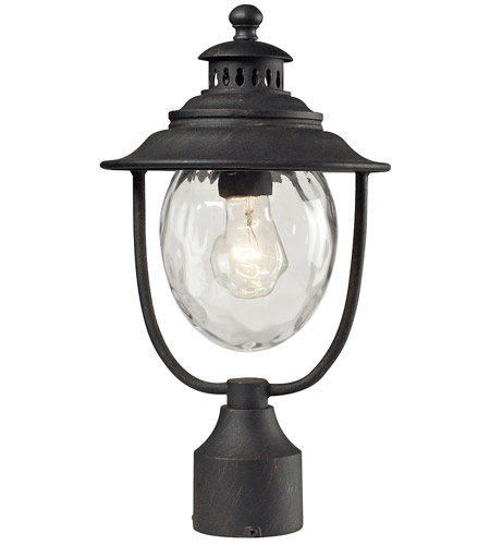 ELK 45042/1 Searsport 1 Light 15 inch Weathered Charcoal Outdoor Post Light photo