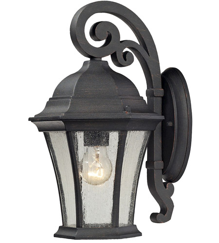 ELK 45050/1 Wellington Park 1 Light 14 inch Weathered Charcoal Outdoor Wall Sconce photo