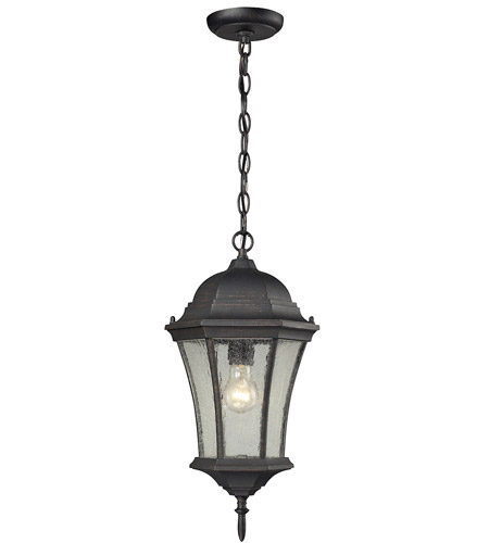 ELK 45053/1 Wellington Park 1 Light 9 inch Weathered Charcoal Outdoor Hanging Lantern photo