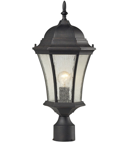 ELK Lighting Wellington Park 1 Light Outdoor Post Light in Weathered Charcoal 45054/1 photo