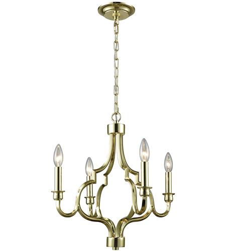 Elk 45055 4 Livonia Light 18 Inch Polished Gold Chandelier Ceiling Photo