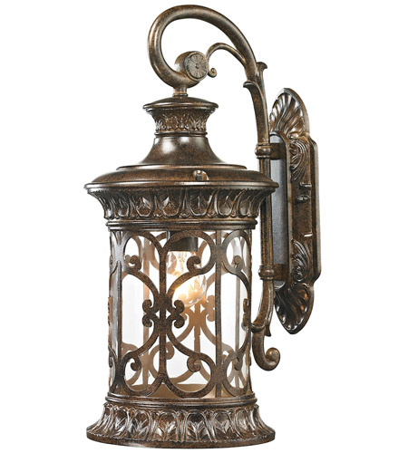 ELK 45081/1 Orlean 1 Light 21 inch Hazelnut Bronze Outdoor Sconce photo