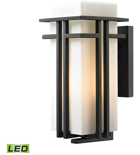 ELK 45087/1-LED Croftwell LED 17 inch Textured Matte Black Outdoor Sconce photo
