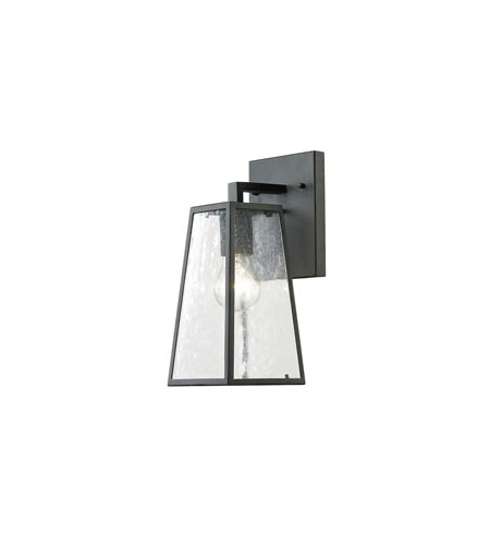 Elk 45090 1 Meditterano 1 Light 14 Inch Textured Matte Black Outdoor Wall Sconce