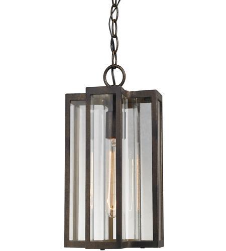 Elk Outdoor Lighting Elk 451471 bianca 1 light 8 inch hazelnut bronze outdoor pendant workwithnaturefo