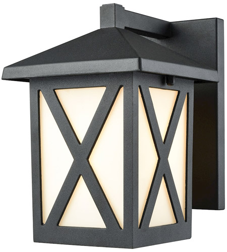 Lawton 1 Light 8 Inch Matte Black Outdoor Sconce