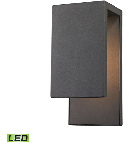 ELK 45231/LED Pierre LED 11 inch Textured Matte Black Outdoor Wall ...