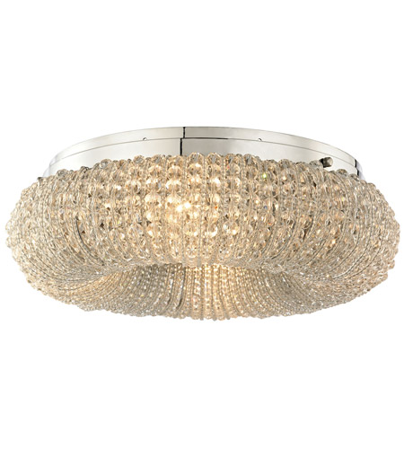 ELK 45290/4 Crystal Ring 4 Light 13 inch Polished Chrome Semi Flush Mount Ceiling Light in Incandescent photo thumbnail