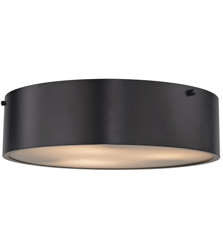 ELK 45320/3 Clayton 3 Light 16 inch Oil Rubbed Bronze Flush Mount ...