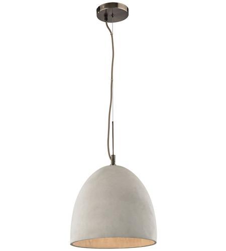 Elk 45334 1 Urban Form 1 Light 12 Inch Black Nickel Pendant Ceiling Light In Standard