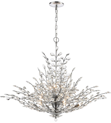 Chrome Glass Steel Chandeliers