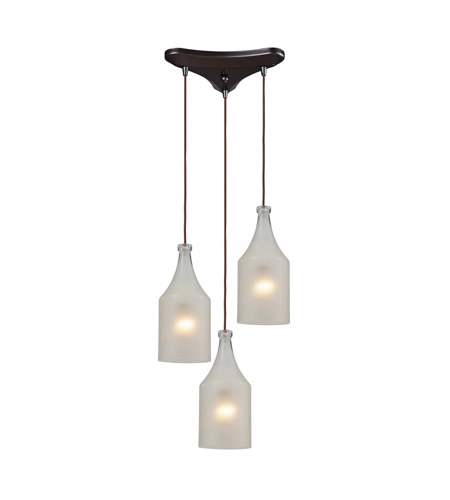 ELK Lighting Skylar 3 Light Pendant in Oiled Bronze 46005/3 photo