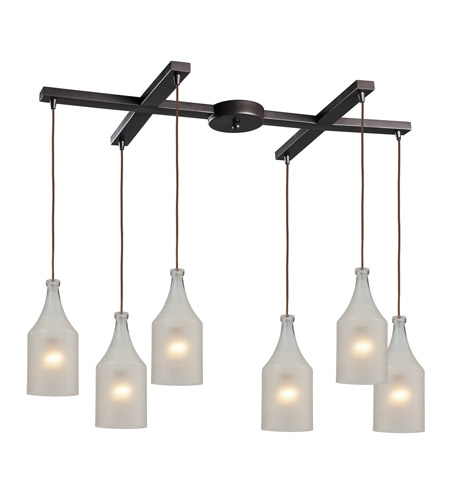 ELK Lighting Skylar 6 Light Pendant in Oiled Bronze 46005/6 photo
