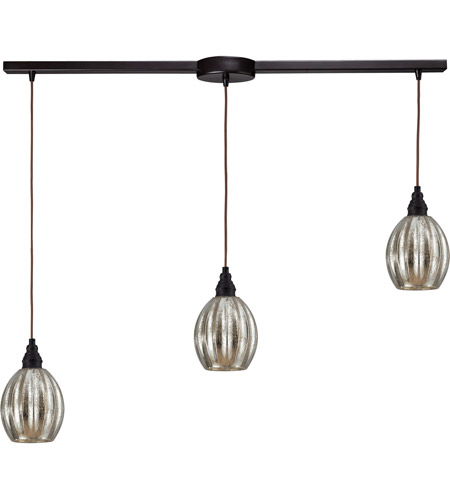 ELK Lighting Danica 3 Light Pendant in Oiled Bronze 46007/3L photo