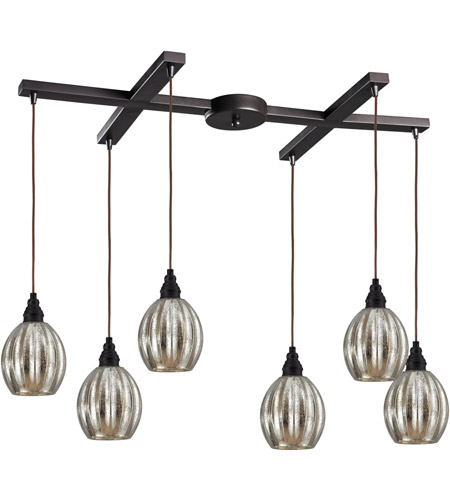 ELK Lighting Danica 6 Light Pendant in Oiled Bronze 46007/6 photo
