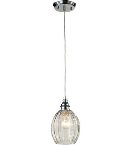 ELK 46017/1 Danica 1 Light 6 inch Polished Chrome Pendant Ceiling Light photo