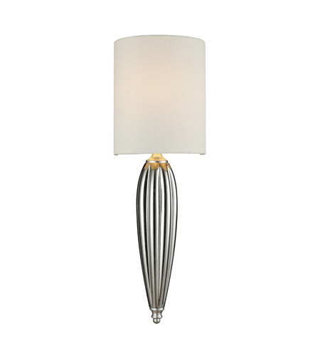 ELK Lighting Martique 1 Light Wall Sconce in Silver Leaf 46030/1 photo