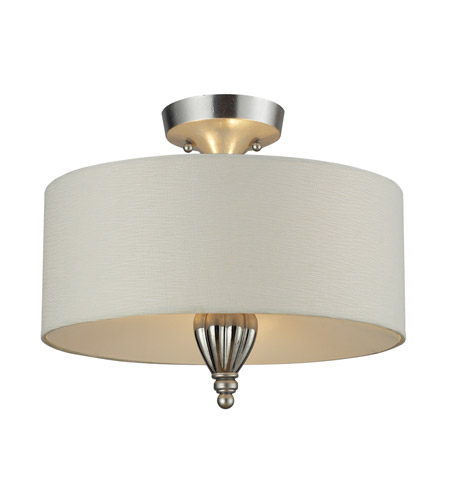 ELK Lighting Martique 3 Light Semi Flush in Silver Leaf 46031/3 photo