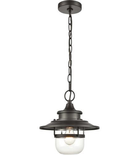 Elk 46072 1 Renninger 11 Inch Oil Rubbed Bronze Outdoor Hanging Light