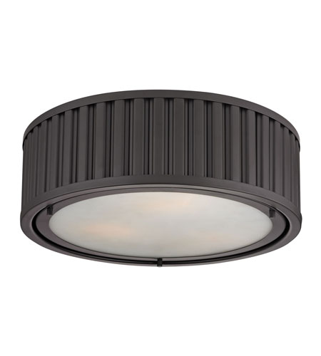 ELK 46131/3 Linden 3 Light 16 inch Oil Rubbed Bronze Flush Mount Ceiling Light in Standard photo