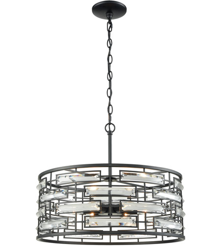 ELK 46194/6 Lineo 6 Light 20 inch Matte Black Chandelier Ceiling Light photo