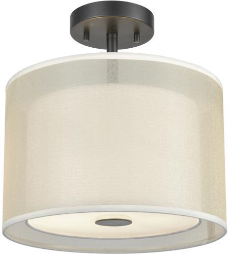 Elk Lighting Garriston: ELK 46266/2 Ashland 2 Light 12 Inch Matte Black Semi Flush