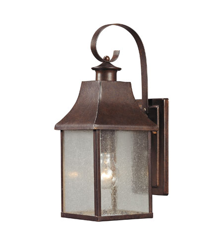 ELK 47001/1 Town Square 1 Light 16 inch Hazelnut Bronze Outdoor Wall Sconce photo