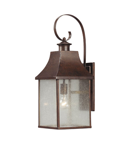 ELK Lighting Town Square 1 Light Outdoor Wall Sconce in Hazelnut Bronze 47002/1 photo