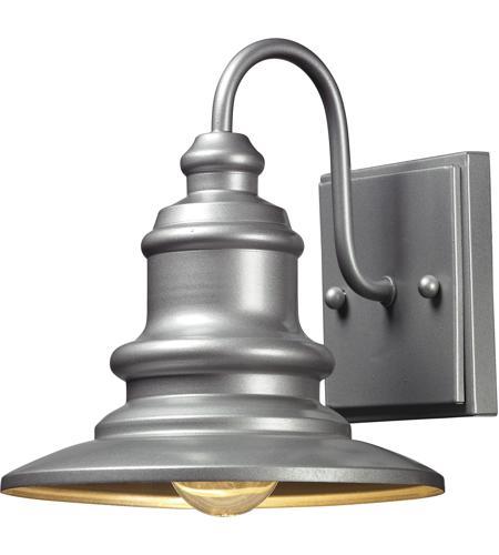 Elk 47020 1 Marina Light 8 Inch Matte Silver Outdoor Wall Sconce In Standard