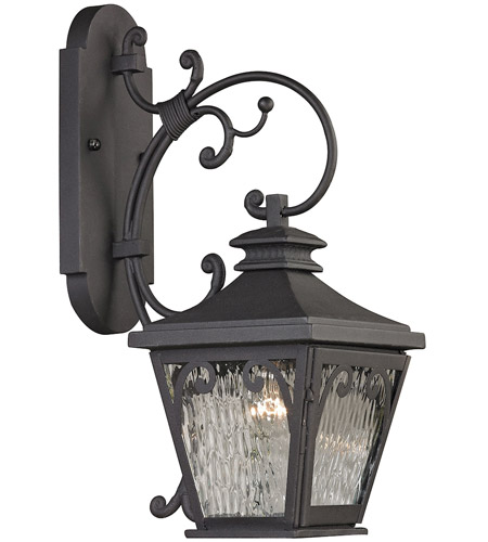 Forged Camden 1 Light 21 Inch Charcoal Outdoor Wall Sconce