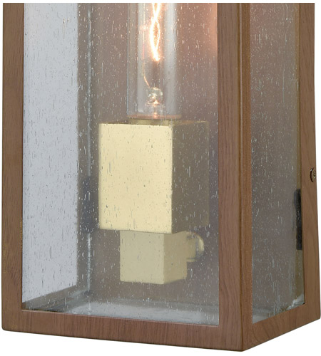 ELK 47131/1 McKenzie 1 Light 16 inch Dark Wood Print with Brushed Brass Outdoor Sconce alternative photo thumbnail