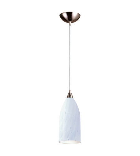 ELK Lighting Verona 1 Light Pendant in Satin Nickel 502-1WH photo