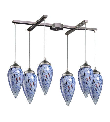ELK Lighting Lacrima 6 Light Pendant in Satin Nickel 503-6BL photo