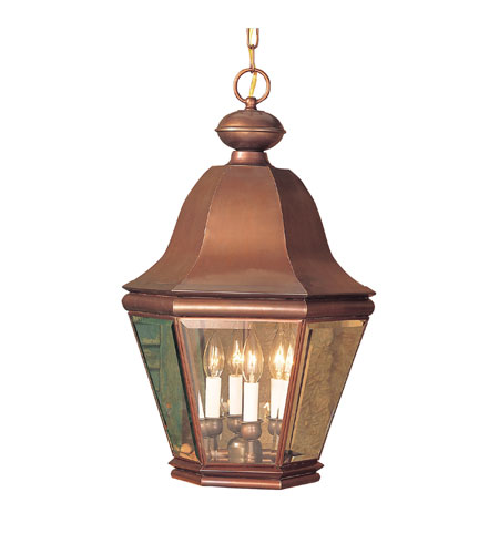 ELK Lighting Heritage 4 Light Outdoor Hanging Lantern in Aged Copper 5084-AC photo