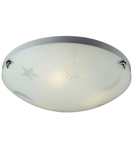 ELK 5088/3 Novelty 3 Light 16 inch Satin Nickel Flush Mount Ceiling Light in Standard photo