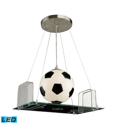ELK Lighting Novelty 1 Light Pendant in Satin Nickel 5134/1-LED