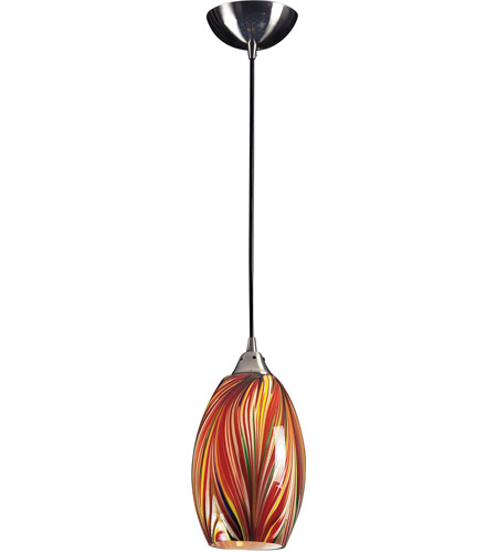 ELK Lighting Mulinello 1 Light Pendant in Satin Nickel 517-1M photo