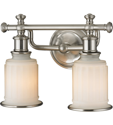 Wonderful ELK 52001/2 Acadia 2 Light 13 Inch Brushed Nickel Bath Bar Wall Light In  Standard