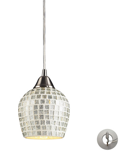 ELK Lighting Fusion 1 Light Pendant in Satin Nickel 528-1SLV-LA photo