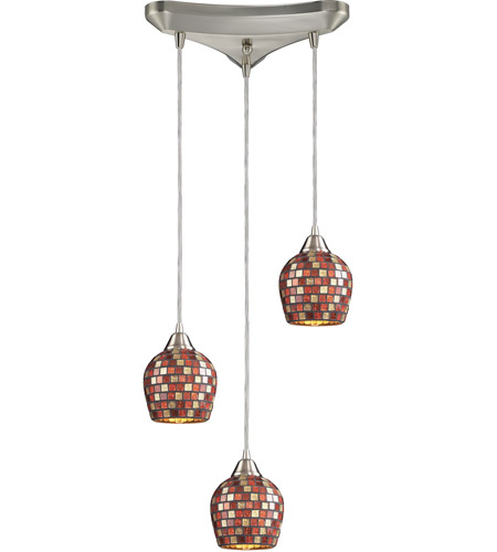 ELK Lighting Fusion 3 Light Pendant in Satin Nickel 528-3MLT photo