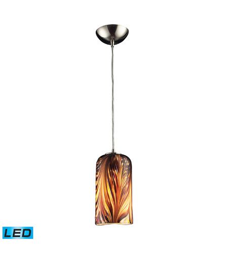 ELK Lighting Molten 1 Light Pendant in Satin Nickel 544-1MS-LED photo