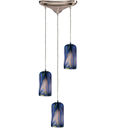 ELK Lighting Molten 3 Light Pendant in Satin Nickel 544-3MO photo