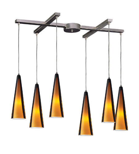 ELK 545-6SAH Desert Winds 6 Light 5 inch Satin Nickel Pendant Ceiling Light photo