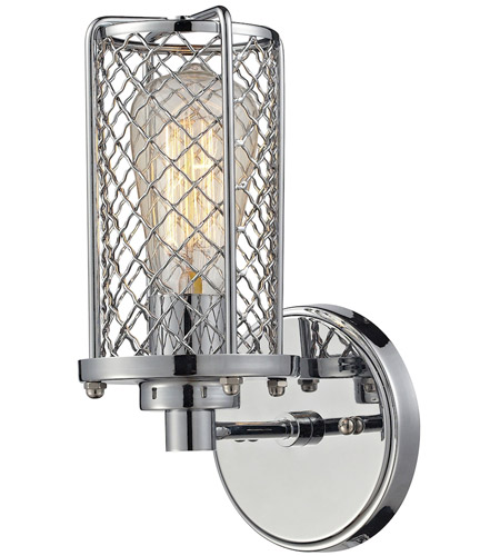 ELK 55000/1 Brisbane 1 Light 5 inch Polished Chrome Wall Sconce Wall Light  sc 1 st  ELK Lighting & ELK 55000/1 Brisbane 1 Light 5 inch Polished Chrome Wall Sconce Wall ...