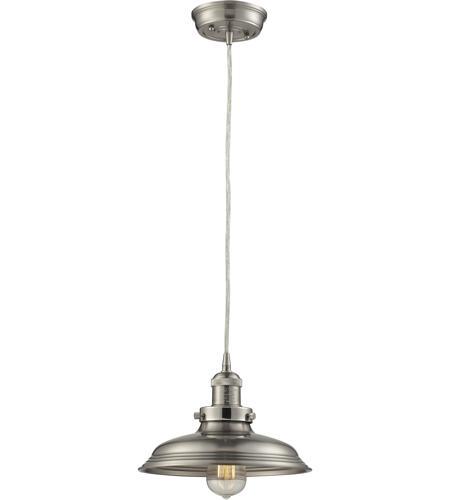 Elk Lighting Amazon: ELK 55021/1 Newberry 1 Light 11 Inch Satin Nickel Pendant